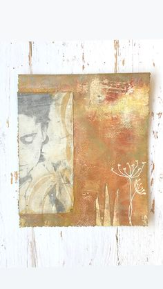 Gelliprint and mixed media...
