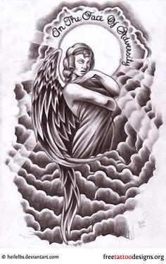 ... Clouds Angel Tattoo Designs Art Tattoo Angels Tattoo Design 2 Arm