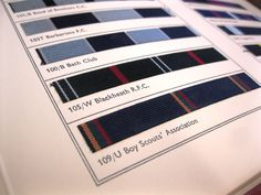 Here is a book of 'Club Colours' containing uniform colours from the Anderson & Sons tailors collection (AND). They made uniforms for many different clubs and groups in York as well as for the military.