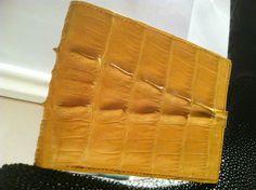 GENUINE Mens Crocodile Tail Skin Bifold Wallet Exotic Hide Leather  #Bifold