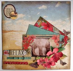 December Get Away with Tropicana - Created by Lori Williams of Pinkcloud Scrappers Scrapbook Sketches, Scrapbooking Layouts, Scrapbook Pages, Embellishments, Stampin Up, Projects To Try, December, Paper Crafts, Vacation