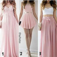 Image about fashion in Vestidos by Ale on We Heart It Teen Fashion Outfits, Mode Outfits, Outfits For Teens, Girl Fashion, Casual Outfits, Fashion Dresses, Female Fashion, Pretty Dresses, Beautiful Dresses