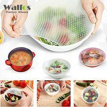WALFOS Mantener Los Alimentos Frescos de calidad alimentaria Saran Wrap Reutilizable super stick de Silicona Alimentos Envuelve Sello de Vacío Cubierta Tramo Tapa(China (Mainland))