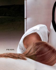 angela lindvall by norbert schoerner for prada fall 1998 campaign.
