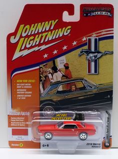 1:64 JOHNNY LIGHTNING 2016 MUSCLE CARS USA 1956 FORD MUSTANG - Poppy Red #JohnnyLightning #Ford