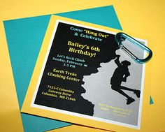 Great use of the climbing clipart for an invitation