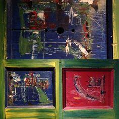 Acrylique sur bois (volet) 1992