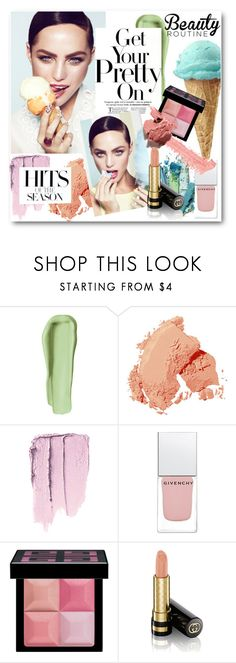 """#Hits of The Season - Ice-Cream Colours"" by nikkisg ❤ liked on Polyvore featuring beauty, Junk Food Clothing, Bobbi Brown Cosmetics, Givenchy, Gucci, beautyroutine and icecreamtreats"