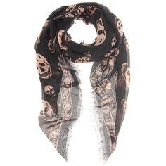 mytheresa.com - Alexander McQueen - SKULL PRINT SCARF - Luxury Fashion for Women / Designer clothing, shoes, bags