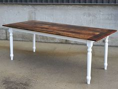 Reclaimed Barn Wood Harvest Parson Spindle Sawbuck Wood Base X Dining Table…