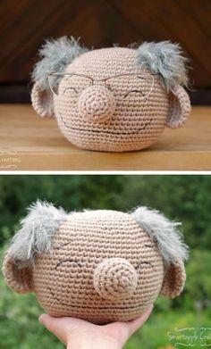 Crochet Muppet Glasses Holder Free Patterns