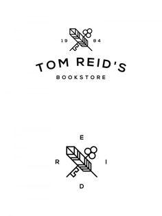 Bookstore logo design by Sebastian Bednarek.