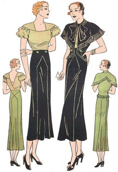 Vintage Pattern Lending Library Schiaparelli pattern 1930s | Flickr - Photo Sharing!
