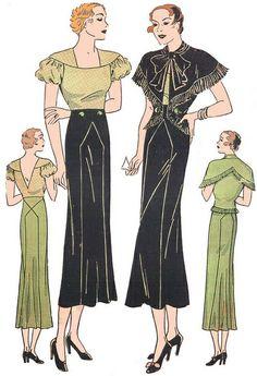 Vintage Pattern Lending Library Schiaparelli pattern 1930s