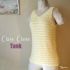 Criss Cross Tank ~ FREE Crochet Pattern