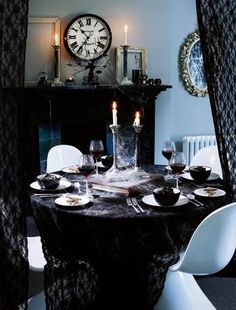 i heart shabby chic more shabby chic halloween interior decor ideas curtains in front of desk