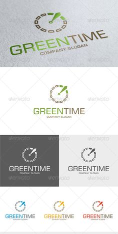 Green Time Logo — Vector EPS #vector #clock • Available here → https://graphicriver.net/item/green-time-logo/3584088?ref=pxcr