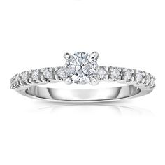 Vir Jewels 14K White Gold Diamond Engagement Ring (0.60 CT) In Size 8 * Review more details here : Engagement Ring