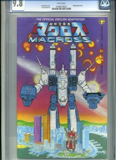 CGC comic book for sale: Macross #1 CGC 9.8 1st Robotech - ending Sunday, January 20th on eBay