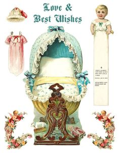 Beautiful Baby Paper Doll Vintage