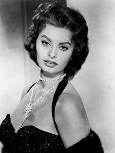 Sophia Loren reminds me so much of my grandmother when she was young :)