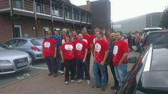 The Harvey Nash team ready to embark on the 3 Peaks Challenge