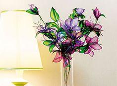Buquê de flores recicladas