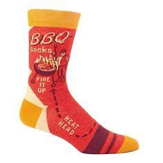 Men's BBQ Fire It Up Meat Head Socks