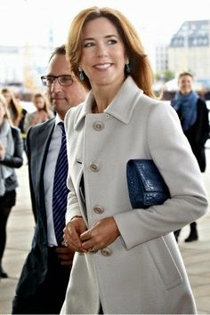 """Crown Princess Mary attend the revival premiere of """"Tosca"""" at The Copenhagen Opera House, 12.10.2014."""