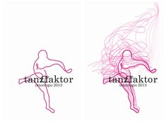 """Logo for dance platform """"tanzfaktor"""" • Design by L'ALTRO http://l.altro.ch/tanzfaktor-interregio-2013"""