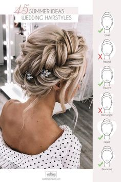 45 Stunning Summer Wedding Hairstyles Summer wedding hairstyles are different because brides have many options for long hair or medium hair We have collected the best bridal ideas for you weddings hairstyles bridalhairstyle summerweddinghairstyles # Wedding Hairstyles For Long Hair, Wedding Hair And Makeup, Bride Hairstyles, Bridesmaid Updo Hairstyles, Summer Hairstyles For Medium Hair, Romantic Hairstyles, Curly Hair Styles, Medium Hair Styles, Braids Medium Hair