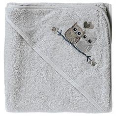 Baby Dan, Love Birds badehåndklæde, grå, eller andre babyhåndklæder