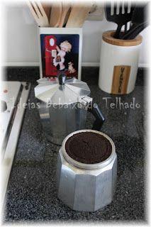Aproveitar borras de café