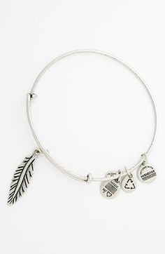 Alex and Ani 'Feather' Expandable Wire Bangle available at #Nordstrom