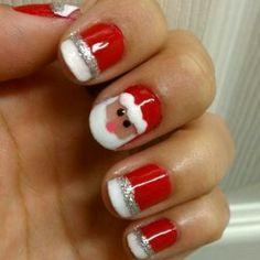Santa block nails