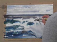Fast seascape demonstration using blotting paper to lift off colours when the paper is still wet. To learn more about Jason Skills art and teaching go to www.paintingwithskill.com