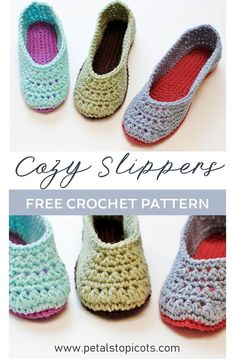 Crochet Slippers A Free Crochet Slipper Pattern! 2019 Crochet Slippers A free crochet slipper pattern available in U. ladies sizes 4 through The post Crochet Slippers A Free Crochet Slipper Pattern! 2019 appeared first on Socks Diy. Easy Crochet Slippers, Crochet Slipper Boots, Crochet Socks Pattern, Shoe Pattern, Slipper Socks, Free Crochet Slipper Patterns, Knitting Patterns, Felted Slippers, Knitting Tutorials