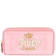 ♛ Juicy Couture Crown Zip Clutch Wallet - Pink ♛