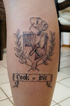 Tools of the trade. So many people have culinary tattoos at JWU