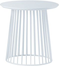 GlobeWest Side Tables Elle White Round Side Table