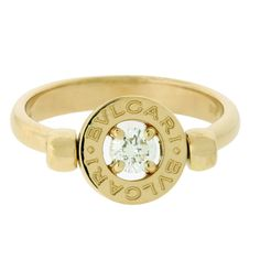 www.jewelrybydavid.com  BVLGARI flip 18kt yellow gold ring.Link to the item…