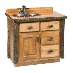 Fireside Lodge Furniture Furniture Hickory 3-ft Freestanding #Vanity #rusticfurniture #rustic    http://www.santaferanch.com/