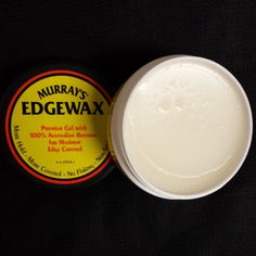 Murray's EDGEWAX is happy to be back in stock. Gel w/ Australian beeswax, no flaking. Don't worry be happy. www.pomade.com