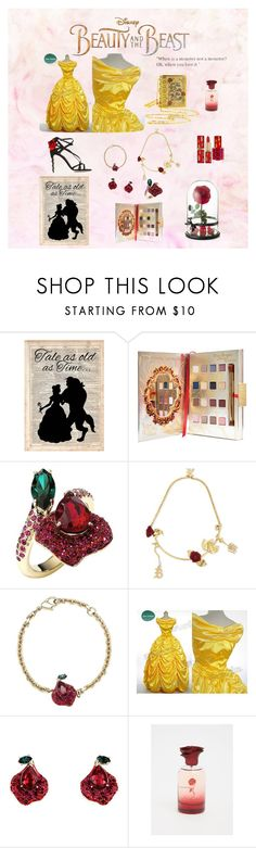 """Beauty and the beast"" by hannahknox18 ❤ liked on Polyvore featuring Disney, Atelier Swarovski, Christopher Kane, L'Oréal Paris, Torrid, Dolce&Gabbana, BeautyandtheBeast and contestentry"