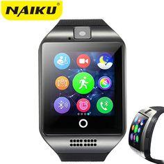 90b5c370e37 NAIKU Bluetooth NK18 Smart Watch Relogio Android Smartwatch Phone Call SIM  TF Camera for IOS iPhone Samsung HUAWEI VS Y1 Q18 Price  22.32   FREE  Shipping   ...