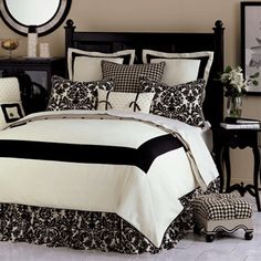 black and off white bedding Bedding