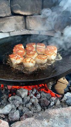 Lobster Recipes, Fish Recipes, Seafood Recipes, Appetizer Recipes, Cooking Recipes, Summer Grilling Recipes, Gula, Fire Cooking, Scallop Recipes