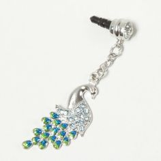 Peacock Cell Phone Charm