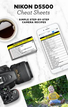 Simple step-by-step cheat sheets, to help you take better photos with your Nikon D5500. Find out the best camera settings for portraits, food, landscapes, nature and more!