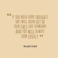 think good thoughts:)